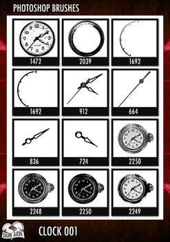 PS Brushes - Clock 001
