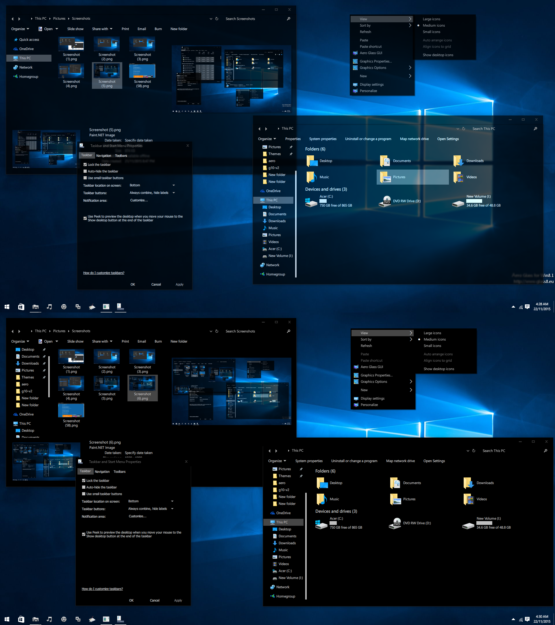 By B Hints || Glass Theme For Windows 10 1709