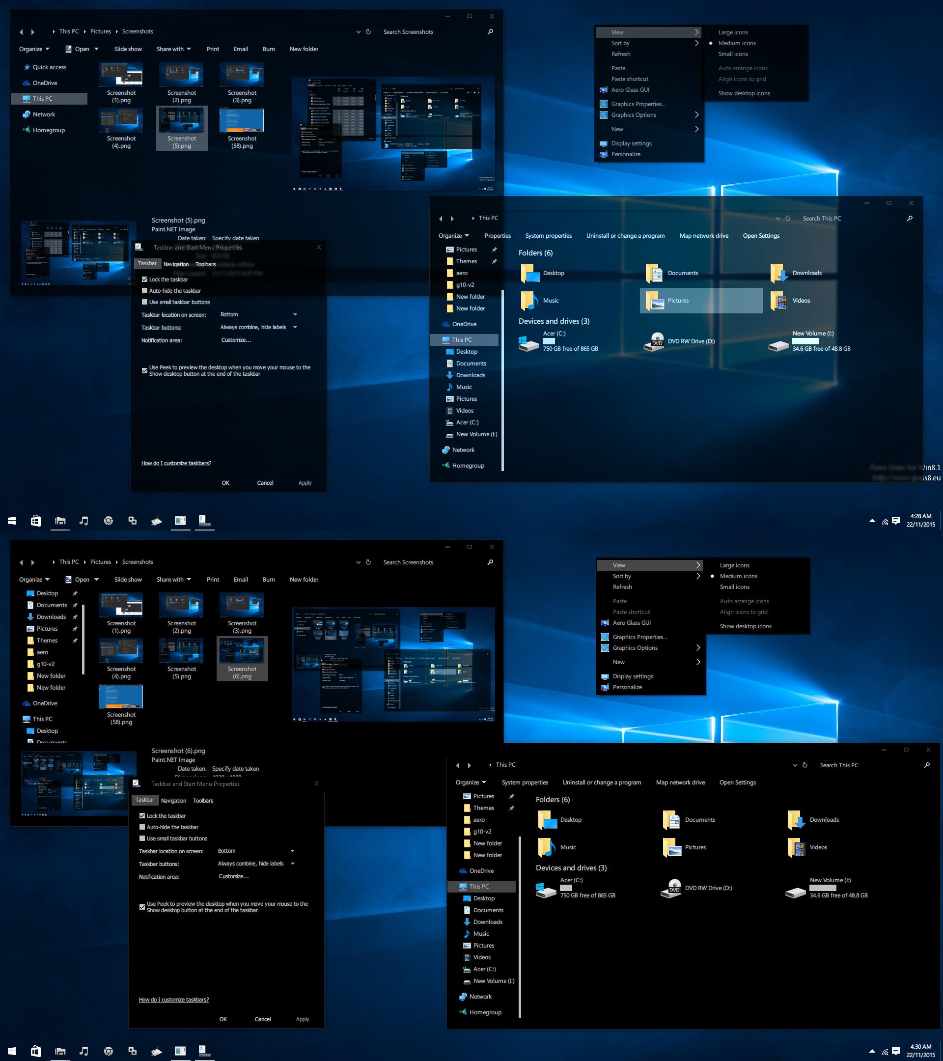 Black Glass Aero Windows  Theme