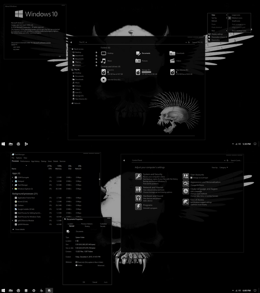 Gray Colors theme for Win10
