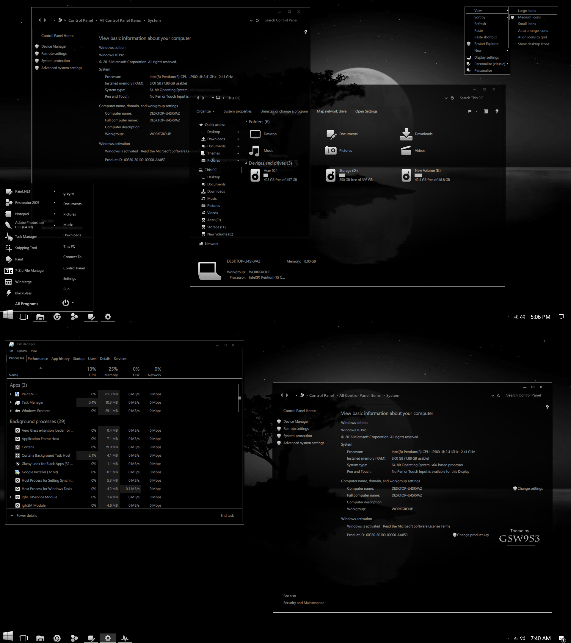 By Photo Congress || Windows 10 Dark Theme 1803