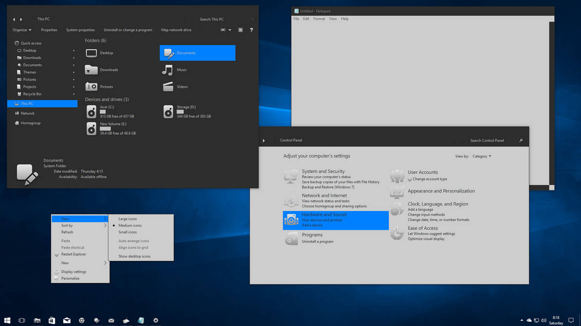 Gray10-mixed for Windows 10 Creators Update by gsw953onDA on