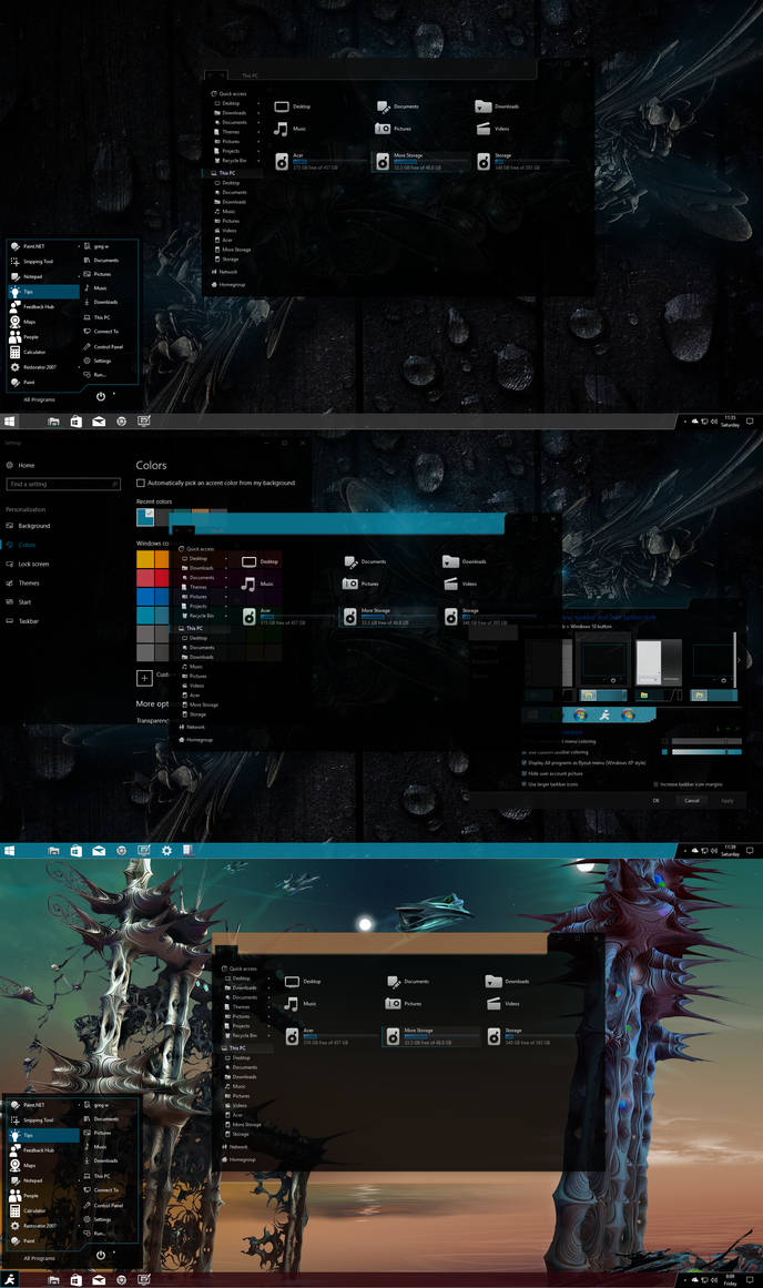 Ghostly-greyscale for Windows 10 Version 1703