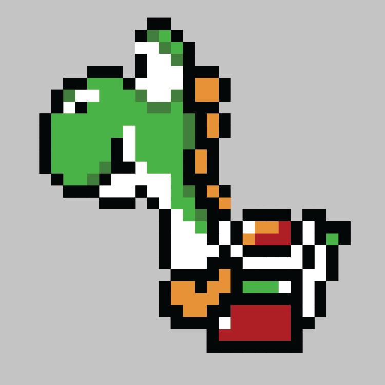 Yoshi pixel made by zerma on DeviantArt