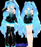 [MMD] Default Hatsune Miku [!!Download!!] by Kilsoph