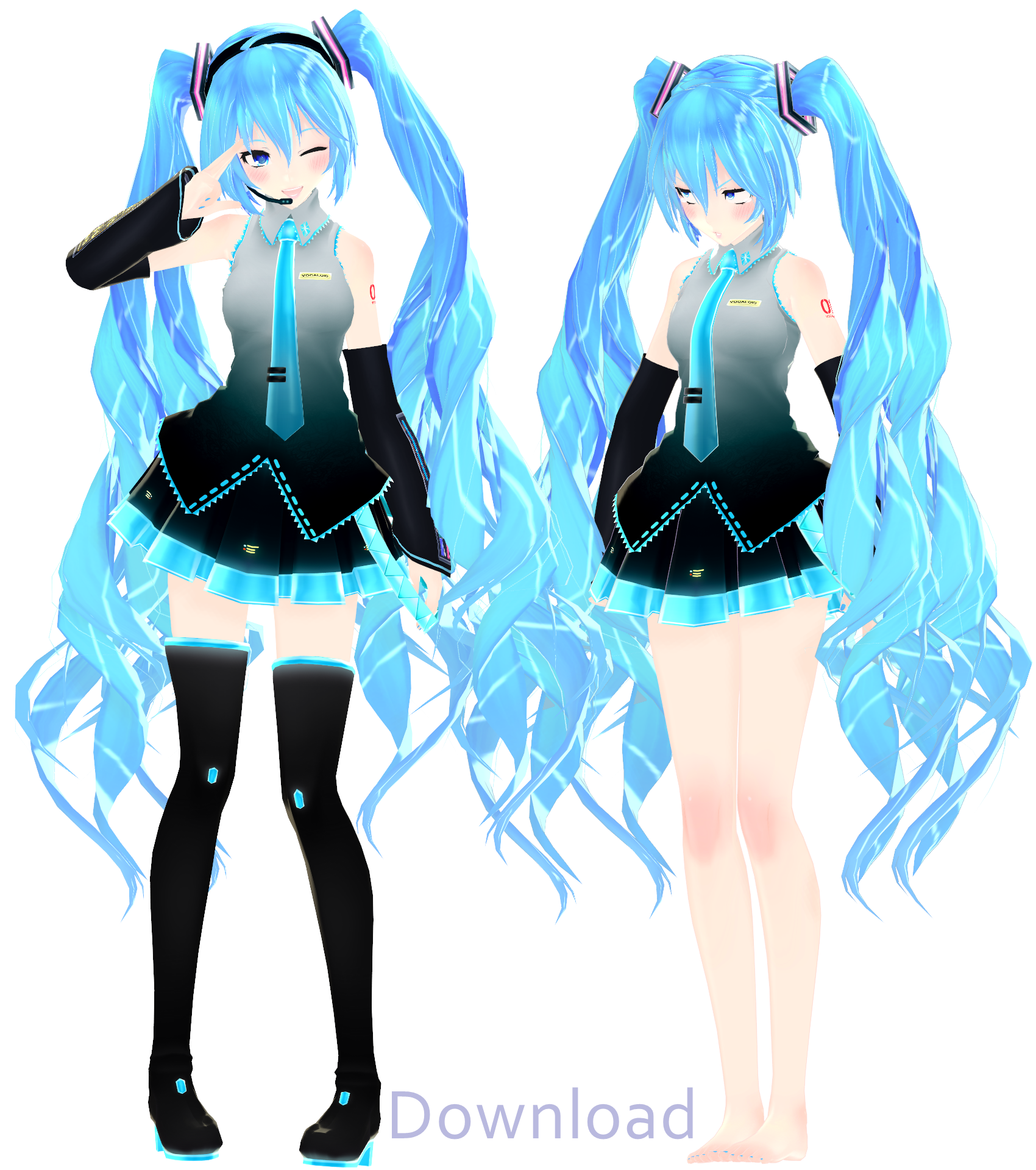 Mmd miku model download zip