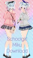 [MMD DL] Schoolgirl Miku! [HBD Crystallyna!]