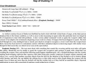 Sap of Dusting +1