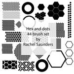 Hex and dots 44 brush set