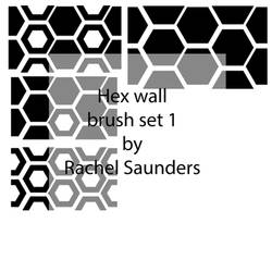 Hex wall brush set 1
