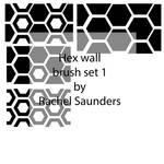 Hex wall brush set 1