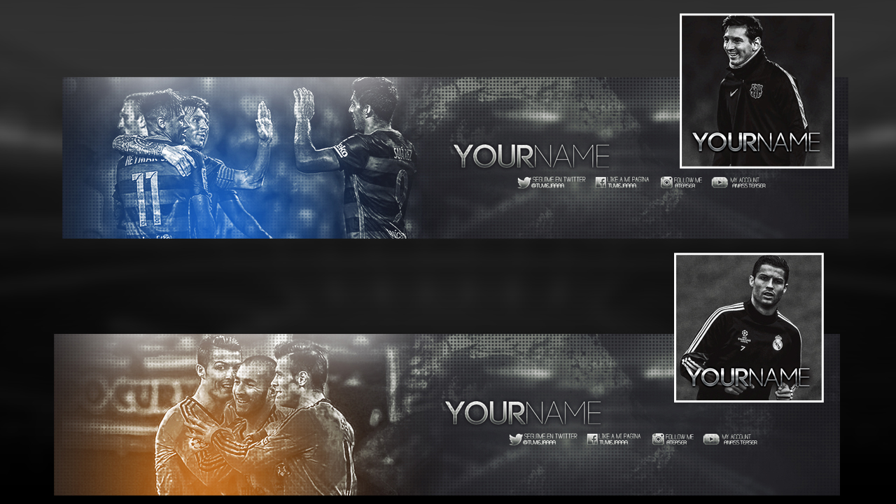 Avatar Banner Youtube Template Free Psd By Angeldesign2011