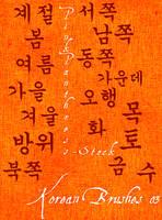 Korean Brushes 03 by PinkPanthress-Stock