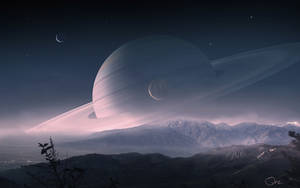 Scenery of Saturn by QAuZ