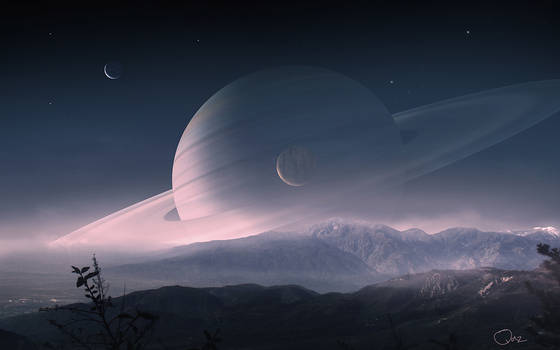 Scenery of Saturn