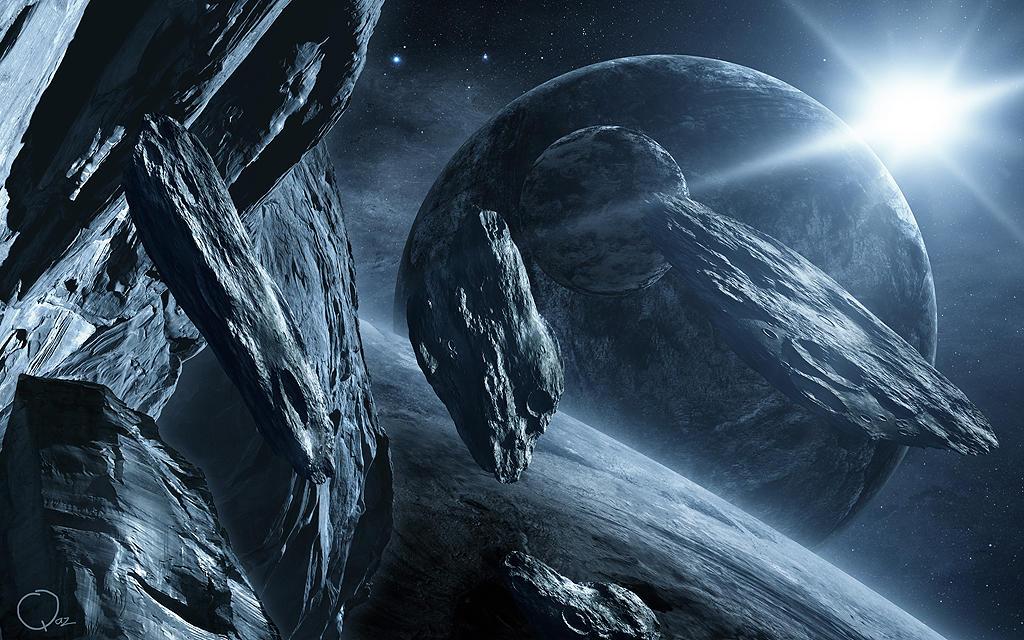 Lost Asteroids In Space by QAuZ on DeviantArt