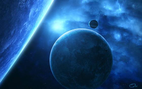 Blue Spacescape WP