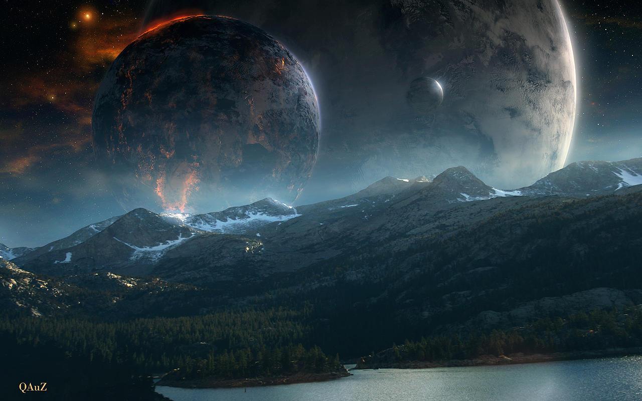 Untitled Sci-Fi WP by QAuZ