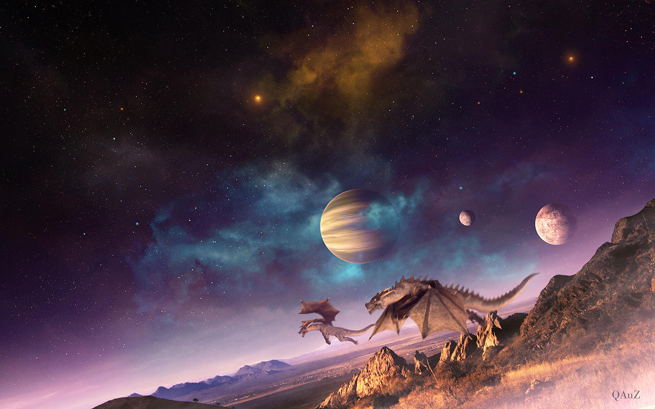 A fantasy land by qauz on deviantart - Fantasy land wallpaper ...