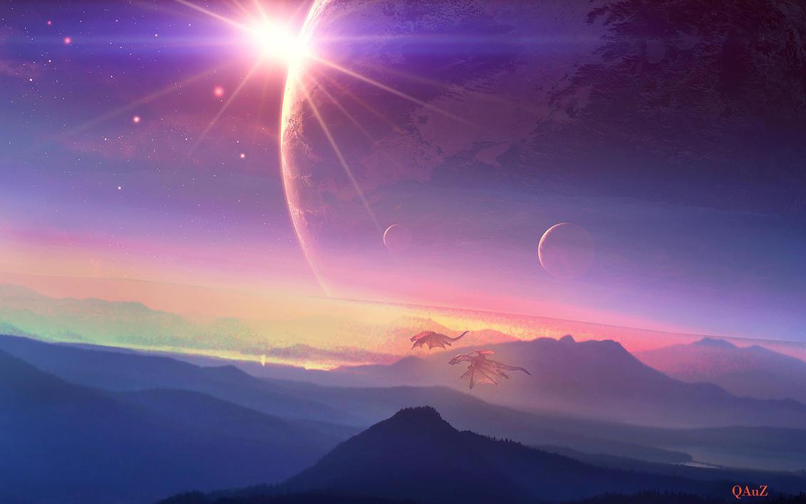 Peaceful Sunrise by QAuZ