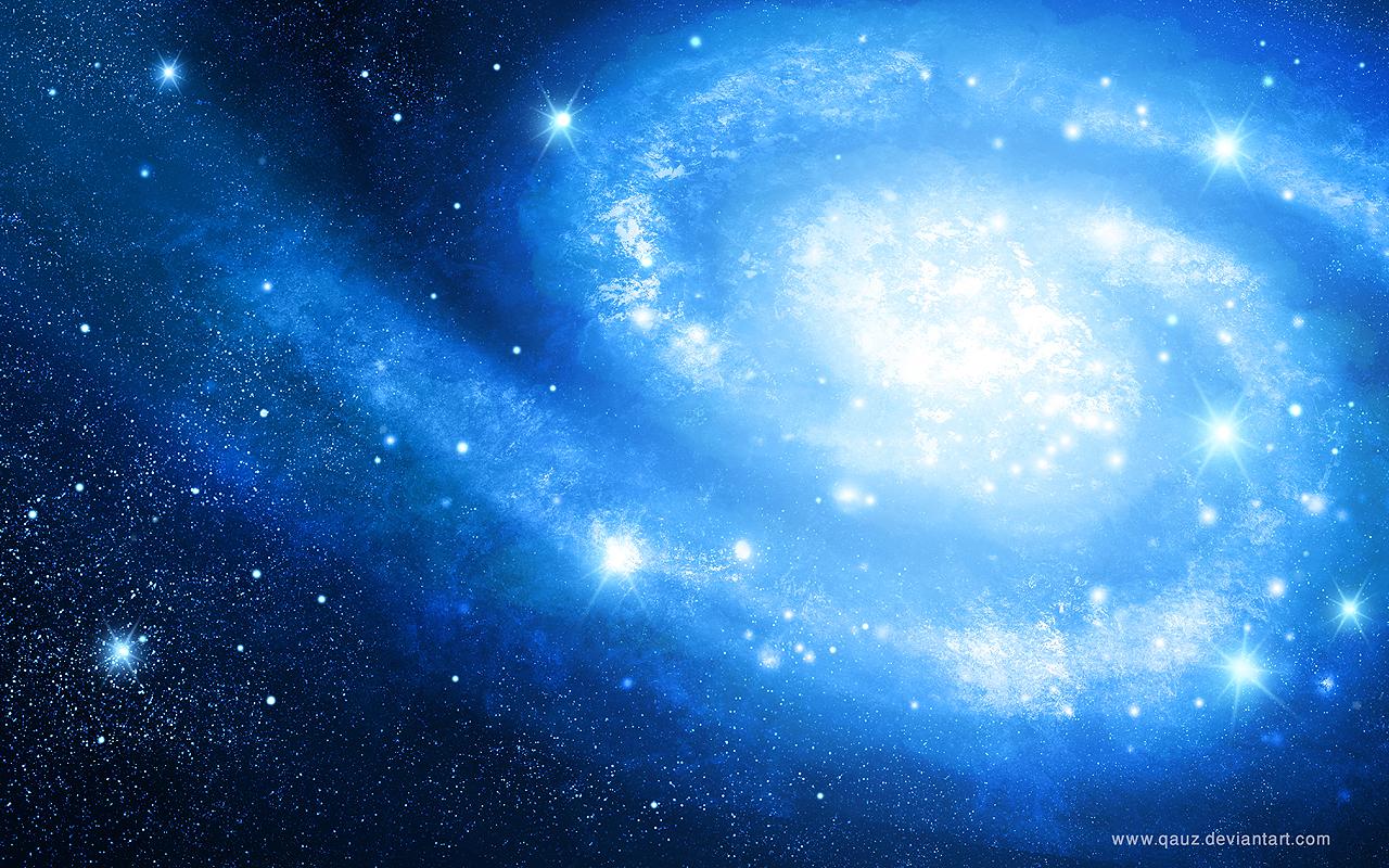 Galaxy in Blue by QAuZ