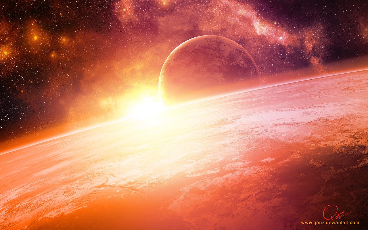Warm Sunrise in Peach by QAuZ