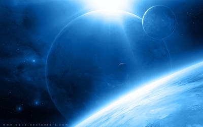 Space in Blue by QAuZ