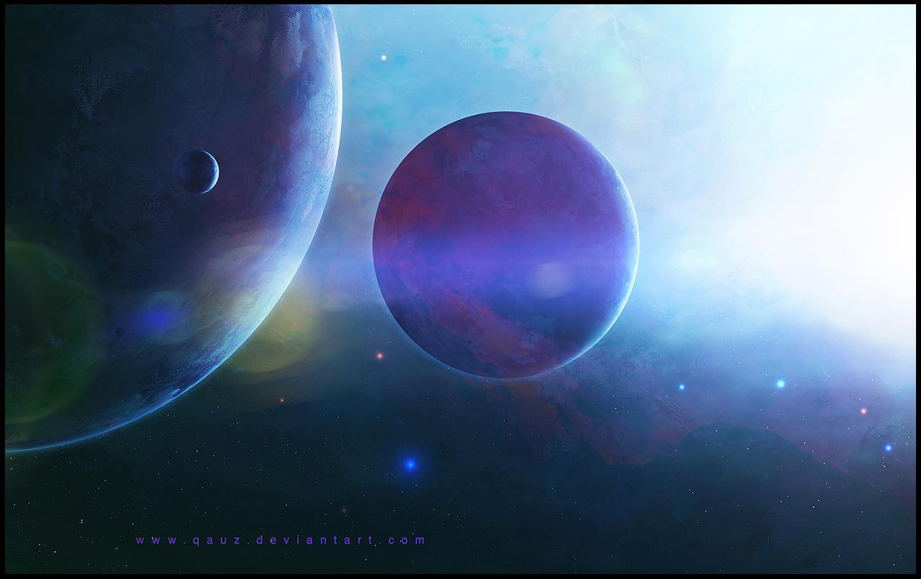 Reach The Light: Space Wallpaper by QAuZ