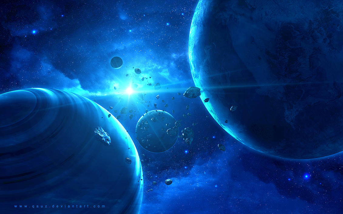 Blue Dream of Space by QAuZ