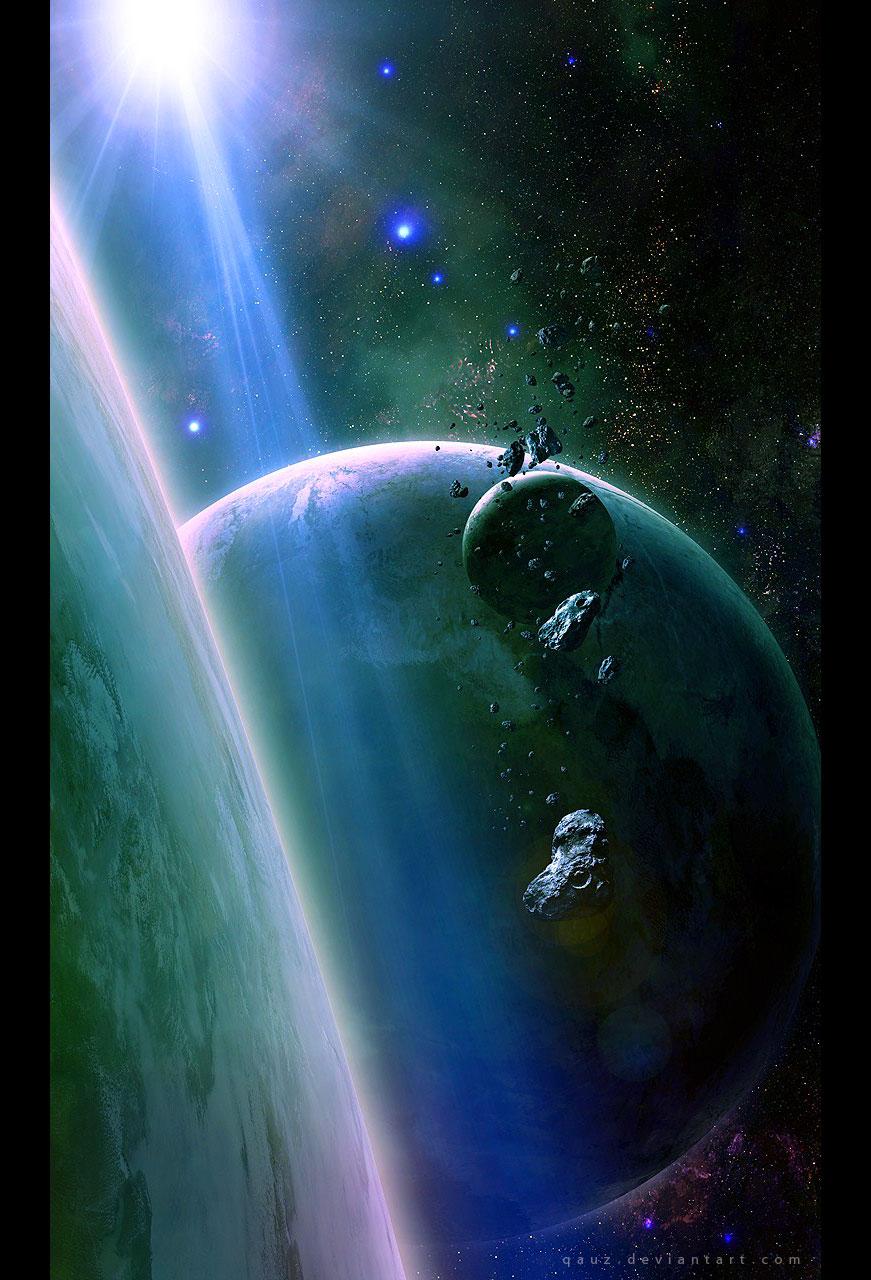 Shining In Space By QAuZ On DeviantArt