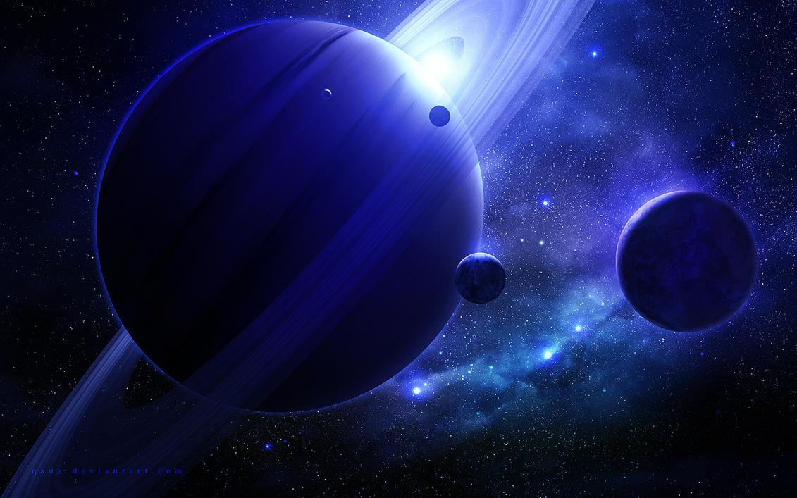Beautiful Saturn by QAuZ