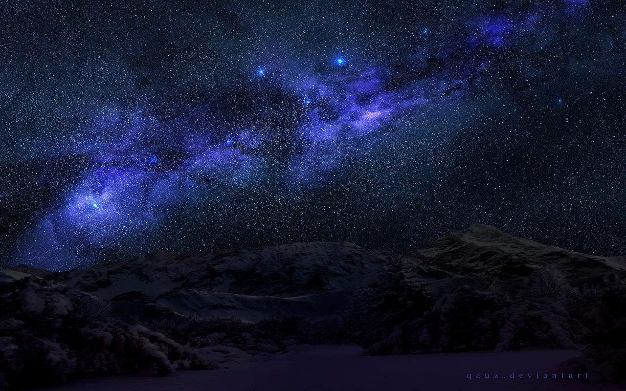 Spacey Night Sky by QAuZ