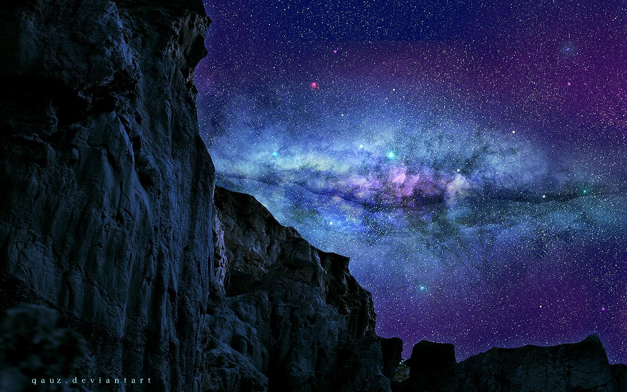 Magical Night Sky by QAuZ