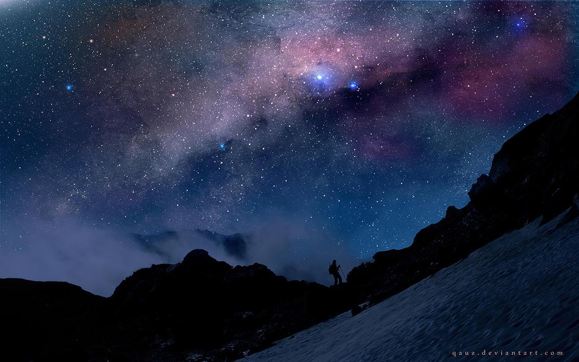 The Night And Milky Way by QAuZ