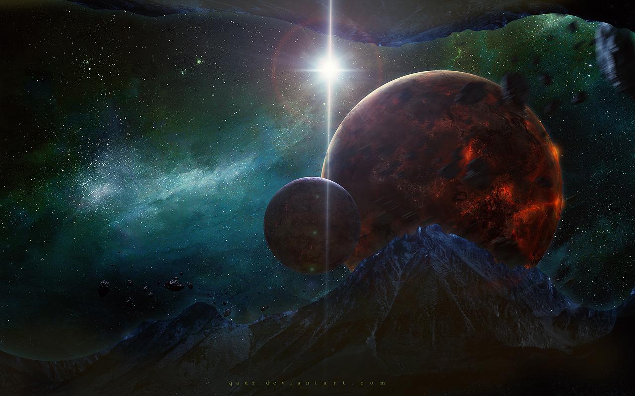 Dark Mountains by QAuZ