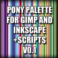 Pony Palette for GIMP and Inkscape + Script (v0.1)
