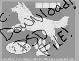 New Wolf Ref Template by RainbowBOXORZZ