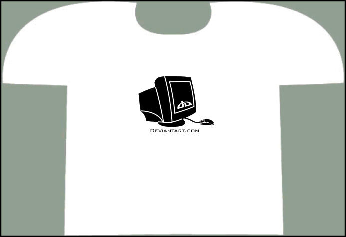 Computer Screen Tee by yachtclub