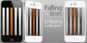 Falling lines - 6 Retina wallpapers