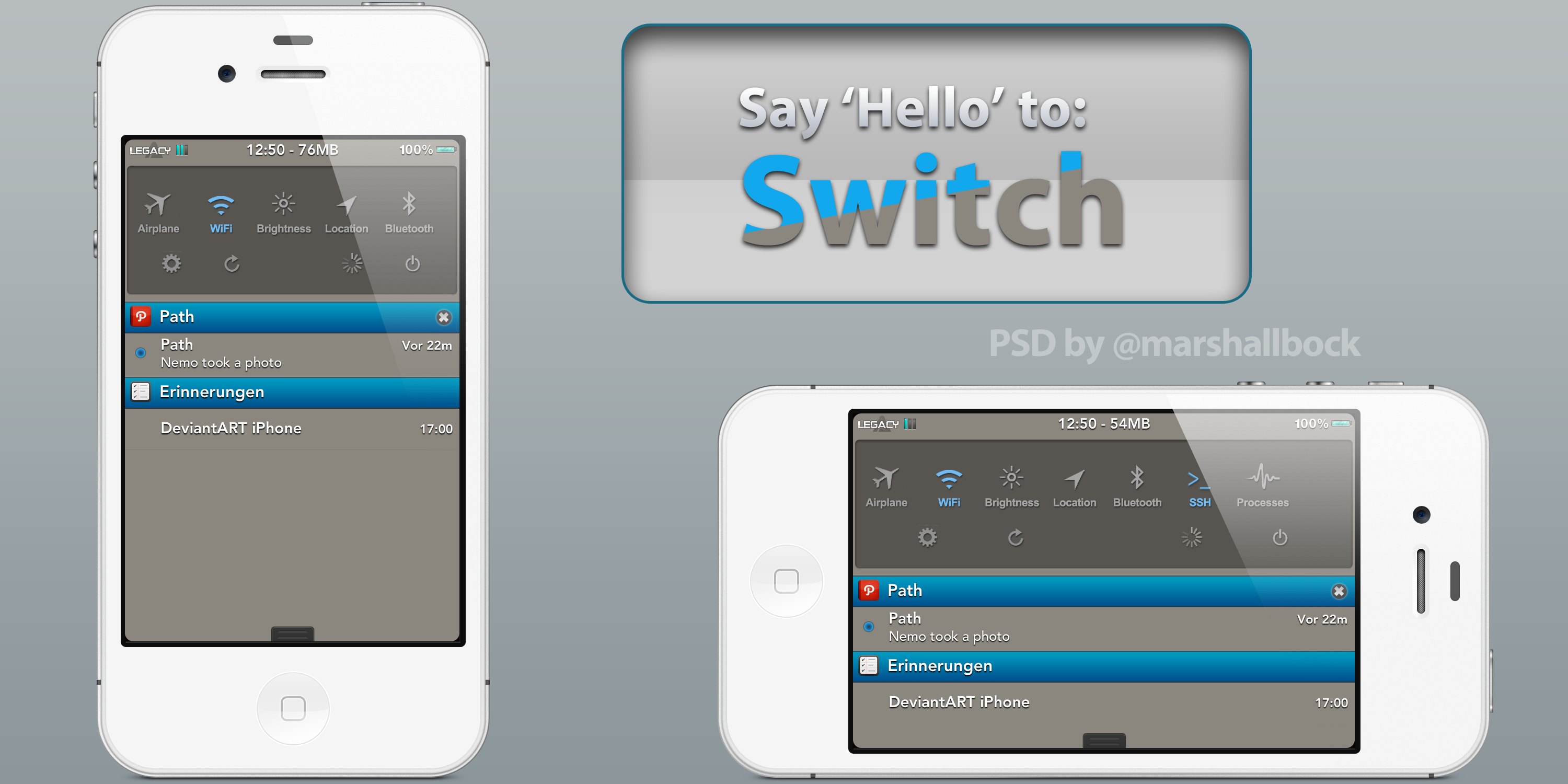 Switch Notification Center theme 1.0 by KillingTheEngine