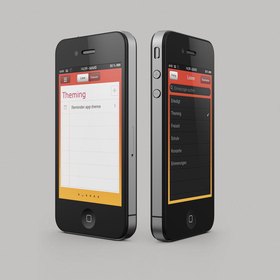 Reminders app theme by KillingTheEngine