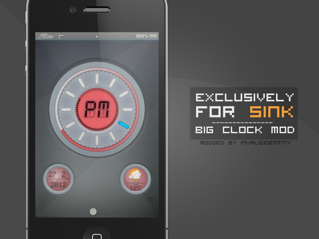 sinkHD Big Clock Mod by KillingTheEngine