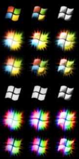 Windows Rainbow Start Orbs