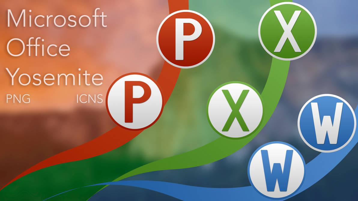 Microsoft Office Yosemite Icons by mp03095 on DeviantArt