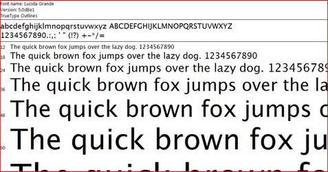 Lucida Grande Font Pack by sudolucifer