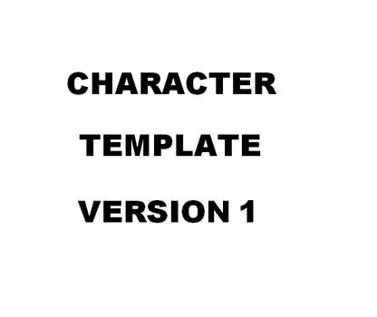 Character Profile Template Version 1