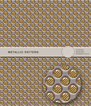 Metallic photoshop patterns