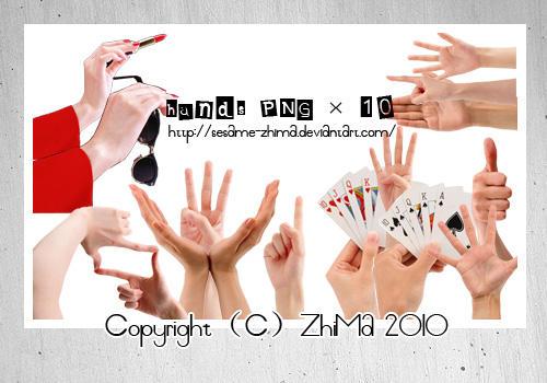 HandsPNG 10P by Sesame-ZhiMa