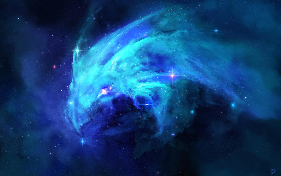 Nebula Draconis by JoeyJazz on DeviantArt Blue Nebula Wallpaper Widescreen