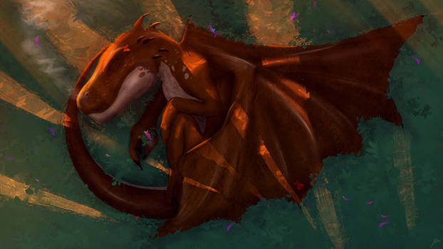 Dragonling Asleep